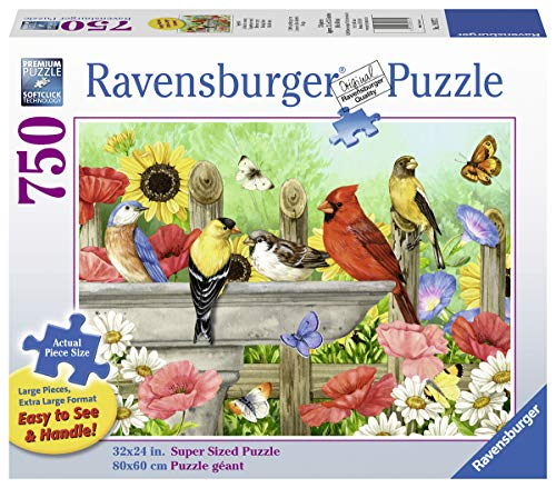 Ravensburger Bathing Birds 19937 750 Piece Large Pieces Jigsaw Puzzle for Adults, Every Piece is Unique, Softclick Technology Means Pieces Fit Together Perfectly