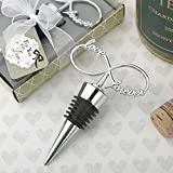 96 Infinity Design Chrome Silver Bottle Stoppers