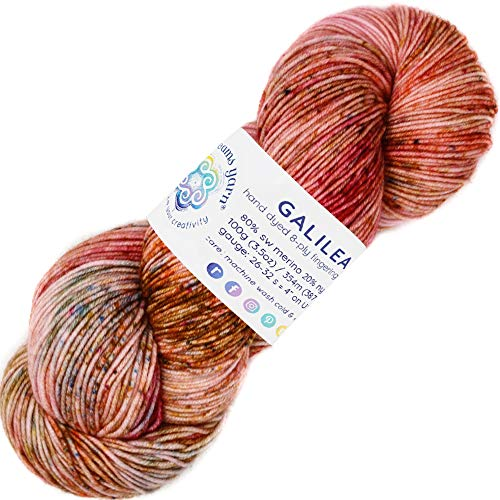 Living Dreams Yarn Galilea. Colorful Superwash Merino Sock Yarn. Super Soft and Strong. Hand Dyed to Perfection: ()