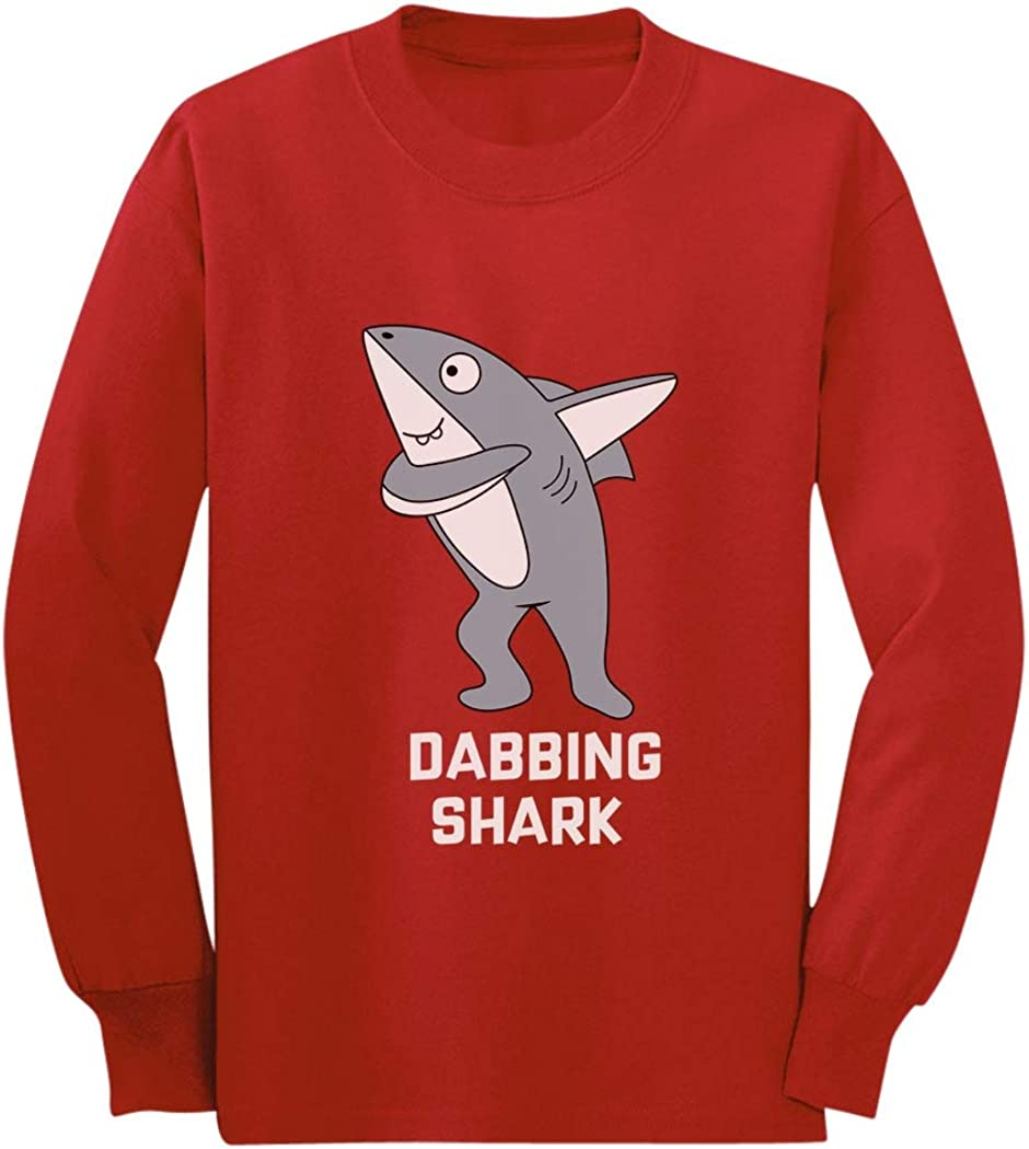 Dabbing Dancing Shark Funny Dub Gift for Boy Girl Youth Kids Long Sleeve T-Shirt