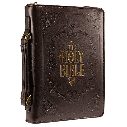 - Brown Embossed Holy Bible Bible / Book Cover (Large)