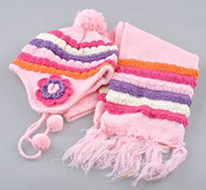 1 Cute Hat and Scarf Set Fits: One Size Fits All 6 month to 36 months