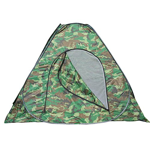 3-4 person Large Pop Up Camping Tent Automatic & Instant Setup Dome Waterproof Backpacking Tents Easy Fold back Shelter with Tent Pegs (Camo Green) (Dome Truck Tent)