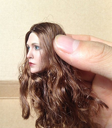 "Shalleen 1/6 Elizabeth Olsen Scarlet Witch Head For 12"" HT Female Figure Body"