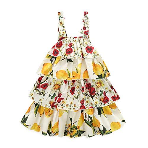 Kimocat Toddler Girls Floral Print Sleeveless Dress Summer Casual Outfits