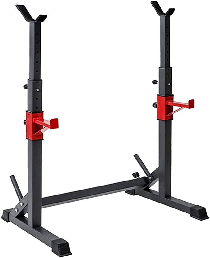 loinrodi Multi-Function Barbell Rack 550LBS Capacity Dip Stand Home Gym Fitness Adjustable Squat Rack Weight Lifting Bench Press Dipping Station