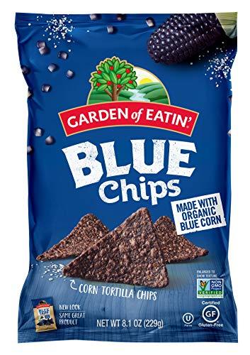 Garden of Eatin' Blue Corn Tortilla Chips, 8.1 oz. (Pack of 12) (Packaging May Vary) - Organic Blue Corn Tortilla