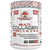 #5: Multi-Collagen Protein Powder - High-Quality Blend of Grass-Fed Beef, Chicken, Wild Fish and Eggshell Collagen Peptides, Providing Type I, II, III, V and X