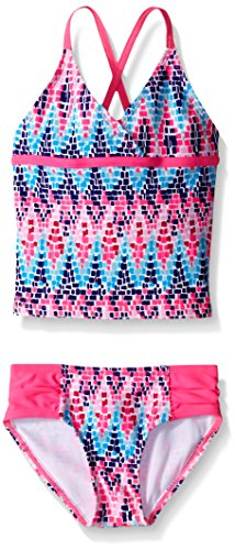 Kanu Surf Big Girls' Candy Beach Sport 2-Piece Tankini Swimsuit, Pink, 10