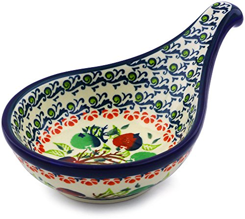 (Polish Pottery Condiment Server 7-inch (Red And Green Berries Theme))