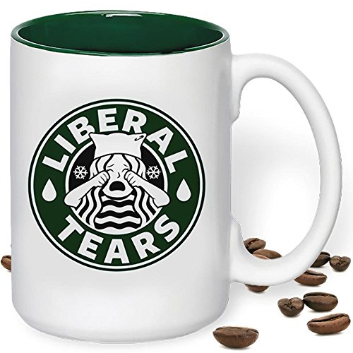 Liberal Tears Mug Funny Starbucks Parody Snowflakes Edition Donald Trump MAGA Ceramic