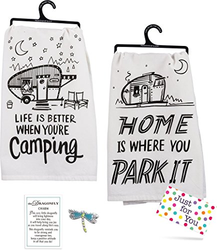 Camping Kitchen Towel Set made our list of Over 100 Ideas For This Holiday Season For Christmas Gifts For Campers And RV Owners!