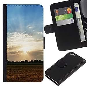 Ihec-Tech / Flip PU Cuero Cover Case para Apple Iphone 6 4.7 - Nature Field Sunset