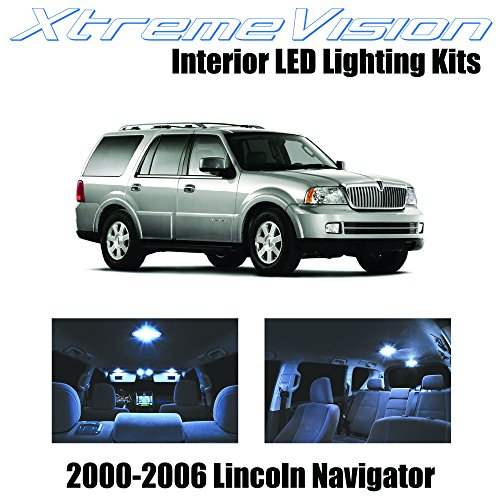 XtremeVision Lincoln Navigator 2000-2006 (6 Pieces) Cool White Premium Interior LED Kit Package +Installation Tool