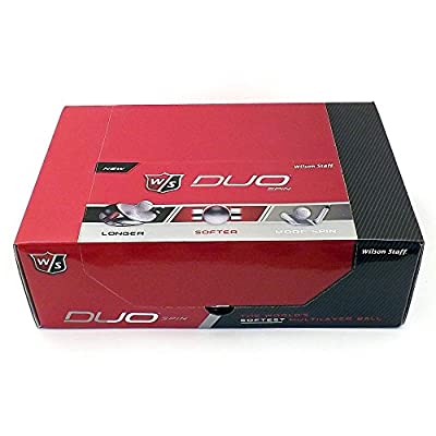 4 Dozen NEW Wilson Staff DUO Spin 2015 Golf Balls 2-Ball Packs - White
