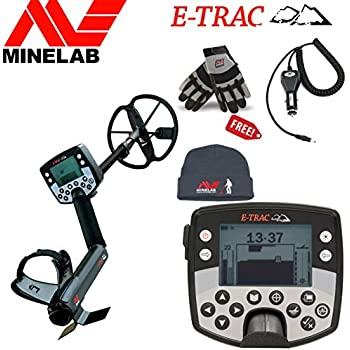 Minelab E-TRAC Metal Detector Special Bundle with Free Minelab Hat, Minelab Gloves and Car Charger