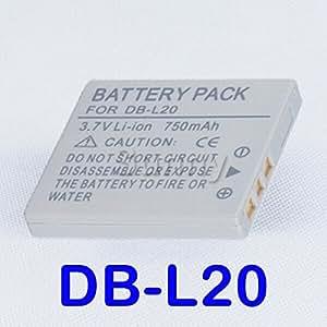ARBUYSHOP paquete de batería para Sanyo DB-L20, DB-L20AU y Xacti VPC-C40, VPC-C5, VPC-C6, VPC-CA6, VPC-CA65, VPC-CA8, VPC-CA9 Videocámara digital