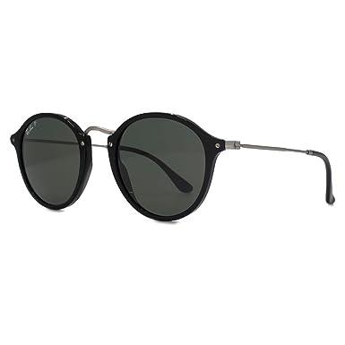 Ray-Ban Puente de metal gafas de sol redondas en verde negro polarizados RB2447 901/58 49