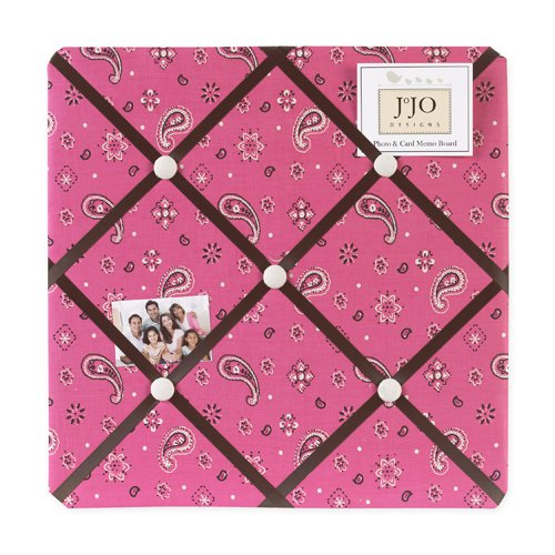 Sweet Jojo Designs Cowgirl Pink Bandana Print Fabric Memory/Memo Photo Bulletin Board by Sweet Jojo Designs