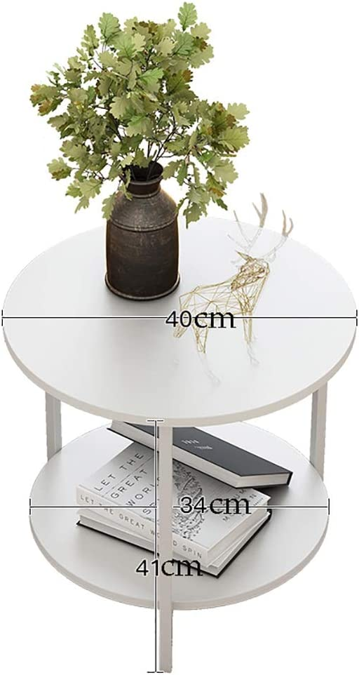Best Verkopende Saladplates-LXM multifunctionele tafel, salontafel, nachtkastje, sofa-snack-tabel, nachtend-tafel met 2 lagen, moderne stijl voor woonkamer, slaapkamer A zvSKR2M