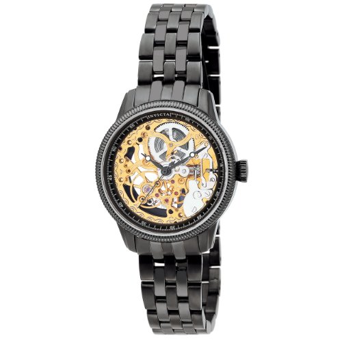 Invicta Women's 0566 Vintage Collection Mechanical Skeleton Stainless Steel Watch