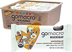GoMacro Macrobars - Coconut + Almond Butter + Chocolate Chips 12 bars