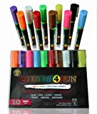 Colors4Fun LIQUID CHALK MARKER PENS Best Chalk Markers for Mason Jars, Bistro Restaurants, Kid's Art, Chalk Pen for Teaching, School & Office Supplies, Liquid Chalk for Glass Windows