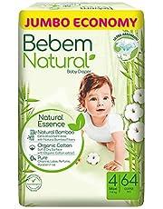 Bebem Natural Maxi Baby Diapers, Size 4-64 Pieces