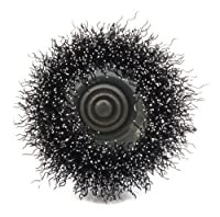 Forney 72729 Wire Cup Brush, Coarse Crimped with 1/4-Inch Hex Shank, 2-Inch-by-.012-Inch