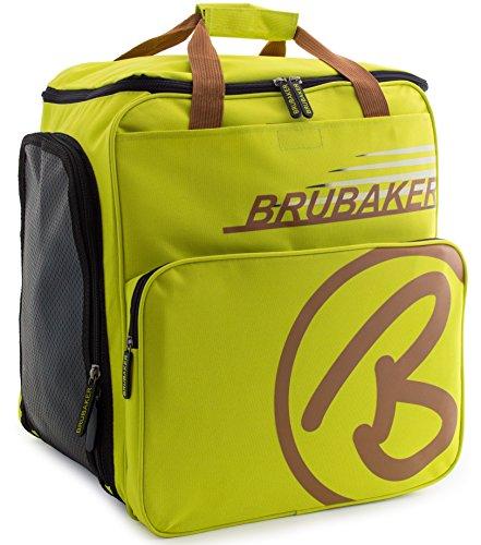 - BRUBAKER Winter Sports Boot Bag Super Champion - Limited Edition - Backpack Light Green Light Brown