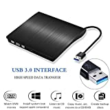 External DVD Drive, USB 3.0 Portable DVD Burner, Super Slim External Optical Drive, CD/DVD-RW Writer Player