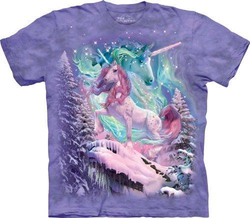 Price comparison product image The Mountain Kids 100% Cotton Aurora Unicorn T-Shirt (Purple, X-Large)