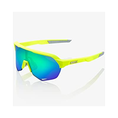 100% Occhiali S2 - Matte Fluorescent Yellow - Green Multilayer Mirror + Trasparente