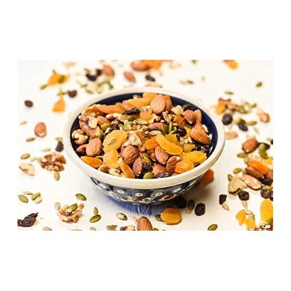 Nuts Wave Super Food Trail Mix   Amazing Mixes of Nuts, Berries, Seeds n Fruits   20+ Varieties of Dry Fruits, Nuts, Seeds & Berries   350 Grams