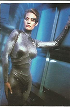 Star Trek Voyager Jeri Ryan As 7 Of 9 Vintage Post Card Collectibles Fine Art