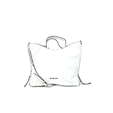 14aa38f6992f6 Michael Kors Devon Large Shoulder Tote (Optic White)  Amazon.co.uk  Clothing