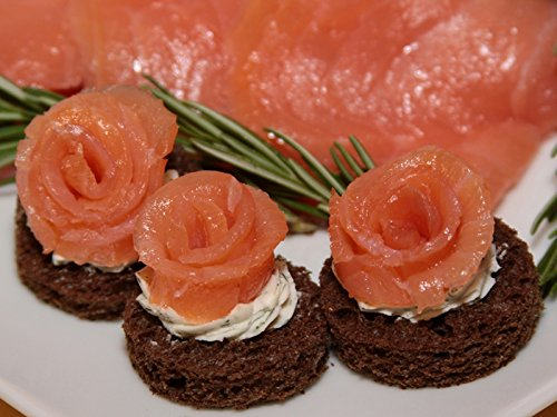 Smoked Salmon Roses - Gourmet Frozen Seafood Appetizers (Set of 4 Trays) by Appetizersusa
