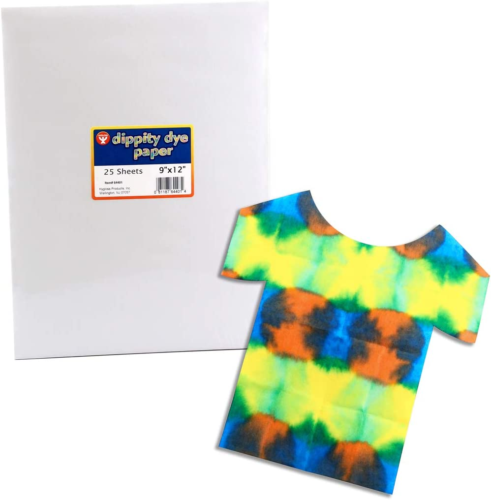 9x12-Inch Hygloss Products Dippity Dye Paper Use for Tie Arts Assorted Crafts /& DIY Projects-Endless Creative Fun-100 Sheets