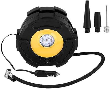 Trucks /& Inflatables /… HONGNAL Air Compressor Tire Inflator DC 12V Portable Car Air Compressor Pump with Gauge Multi-Function Car Air Pump with 3 Nozzle Adaptors for Car Tires Bicycles