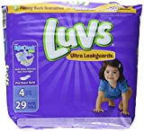 Health & Personal Care : Luvs Ultra Leakguards Diapers - Size 4-29 ct