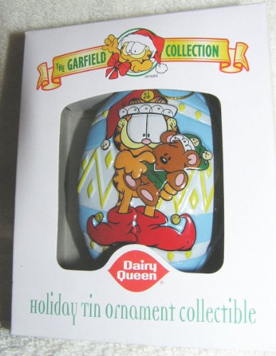 Garfield the Cat Elf with Pooky Tin Ornament From Dairy Queen 2001