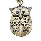 Winkey Keyrings, Owl Retro Watch Key Buckle Watches Necklace Pendant Quartz Watch Jewelry