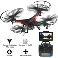 Gotd 2.4G 4CH 6-axis HD Camera WiFi 5.8G Real-Time FPV Gyro RC Quadcopter Drone