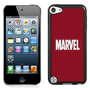NEW Unique Custom Designed iPod Touch 5 Phone Case With Marvel Comics Simple Logo_Black Phone Case