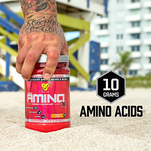 BSN Amino X Post Workout Muscle Recovery & Endurance Powder with 10 Grams of Amino Acids Per Serving, Flavor: Watermelon, 30 Servings