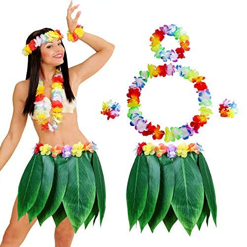 Falda de Hoja de Hula con Set de Hawaianas