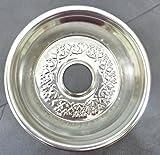 "Metal Nargila Sheesha Shisha Tray Hookah Plate Tray Egyptian Stainless 7.4"""