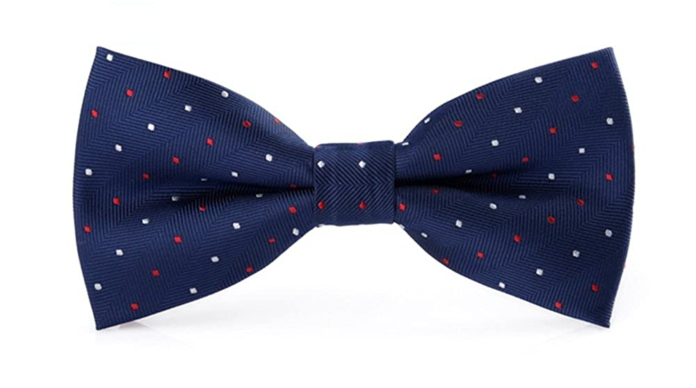 Navy P/&R Adjustable Bowtie Formal Red White Dot Bow Tie for Men