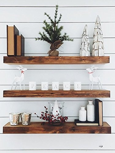 New England Wood Crafters Wooden Floating Shelves ()