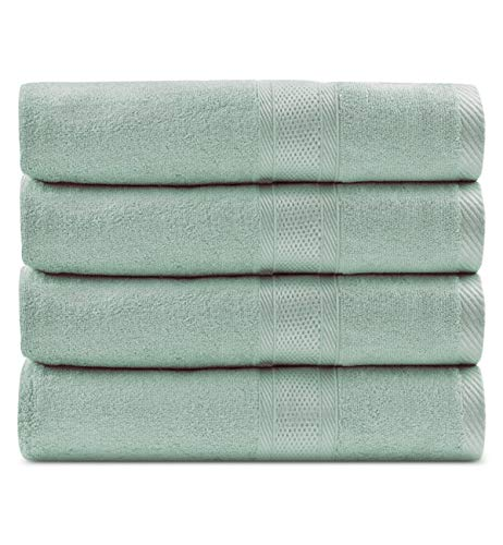 CC CAIHONG Luxury Bamboo Natural Large Bath Towel Set - Silky, Ultra...